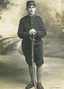 Gergaud Pierre décédé a 23 ans  le 10071917 Legé soldat 90e artillerie